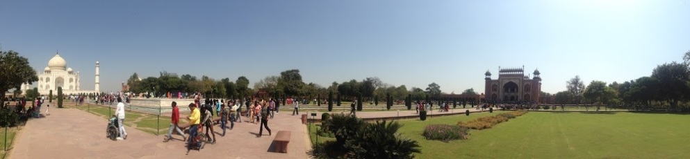 panorama of the taj